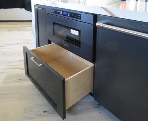 Custom RTA Microwave Base Cabinet with drawer