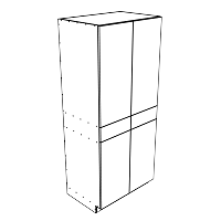 81 Inch High Stratos Pinea Pantry Cabinets