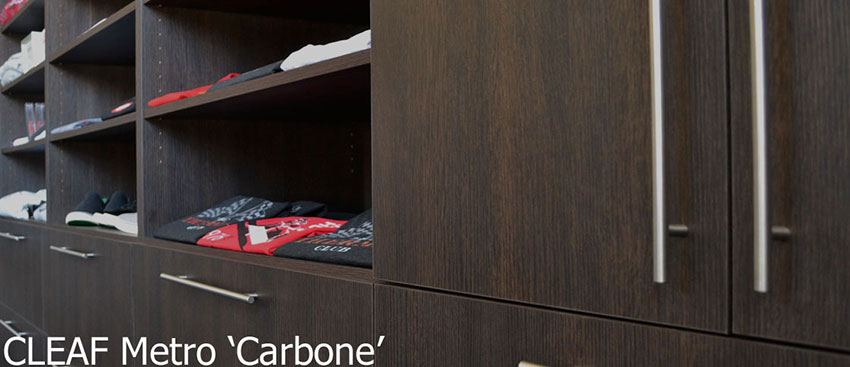 Cleaf Metro Carbone Open Shelf Cabinets