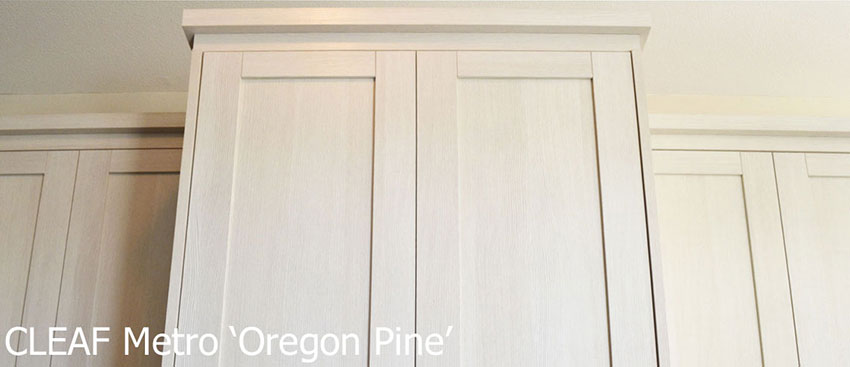 Cleaf Metro Oregon Pine Shaker Kitchen Cabinets