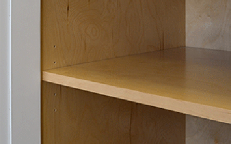 UV Cured Birch Plywood Shelf