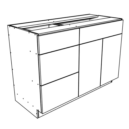 "Ares Concrete Sink and Drawer Cabinet 36"" Wide"