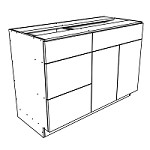 Ares Concrete Sink and Drawer Cabinet 42