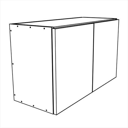 <b>12 Inch High</b><br>Carbone Wall Bridge Cabinet