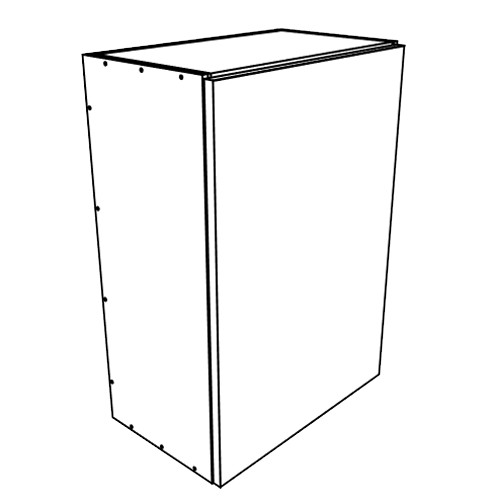"Ares Concrete Wall Cabinets 1 Door 15"" Wide"