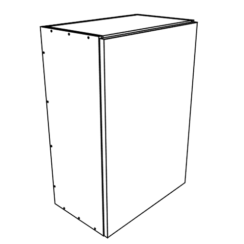 "Bamboo Wall Cabinets 1 Door 12"" Wide"