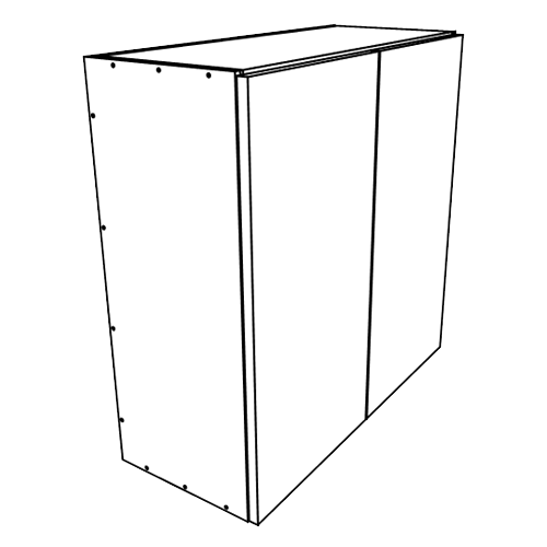 "Carbone Wall Cabinets 2 Door 24"" Wide"