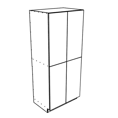 "Ares Concrete Pantry Cabinet 4 Doors 36"" wide, 87"" High"